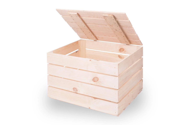 Деревянные ящики с крышкой
