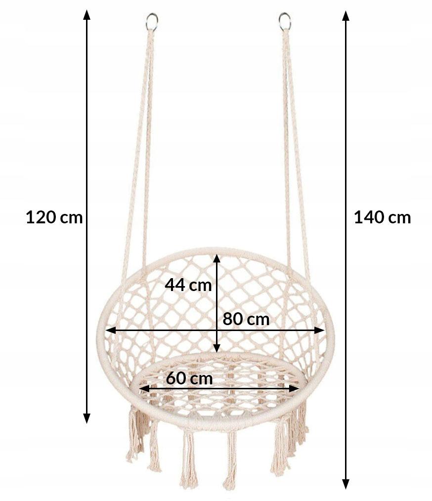 ZÁVESNÉ KRESLO HOJDACÍ PRACOVNÝ HNIEZDNÝ HNIEZDOVÝ vankúš Maximálne zaťaženie 150 kg