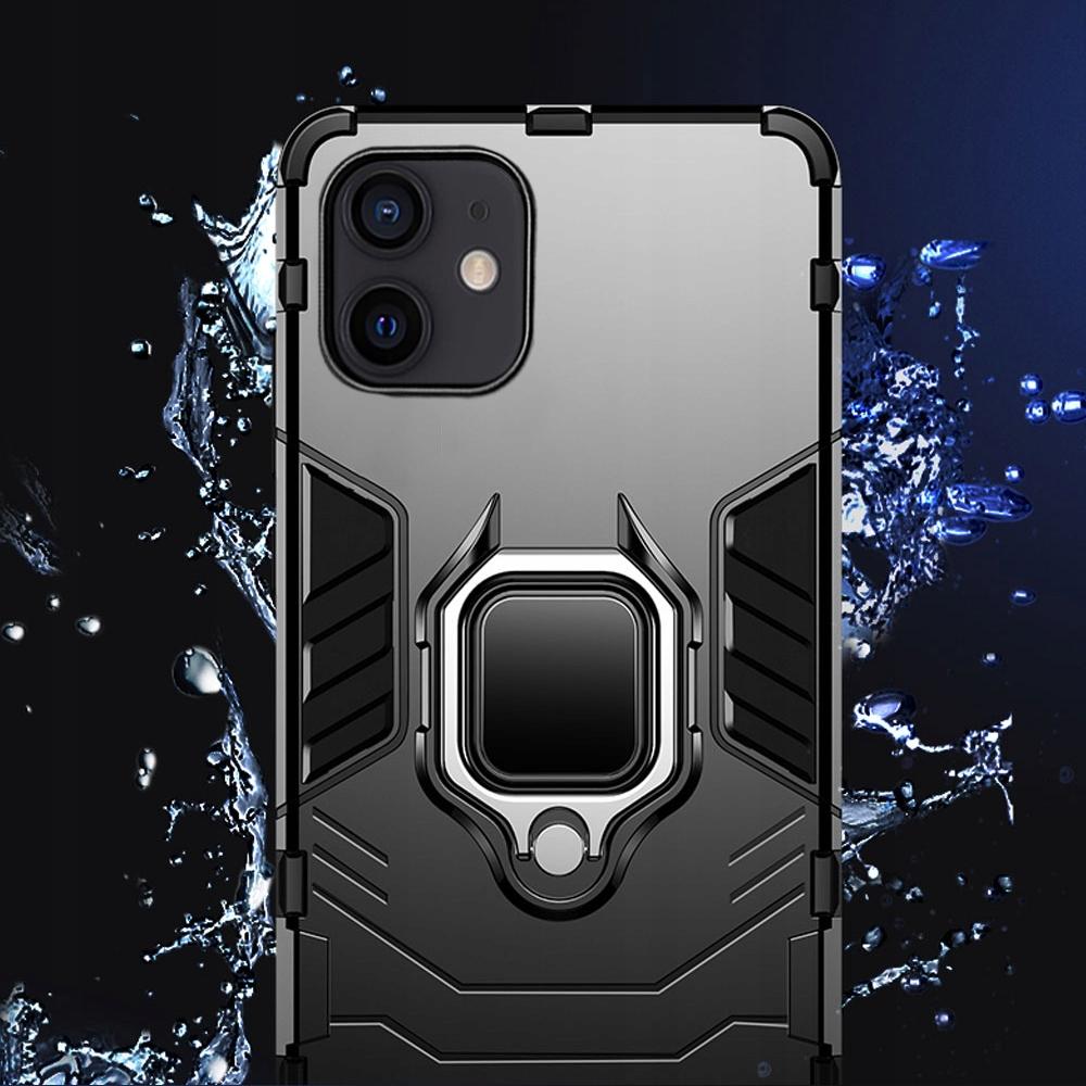Etui do iPhone 12 Mini Pancerne Ring Case + Szkło Producent TopTel