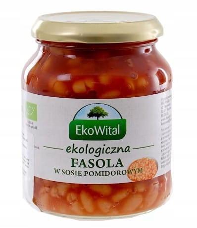 Белая фасоль в томатном соусе BIO 360g Ekowital