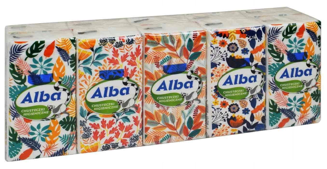 Носовые платки ALBA 10paczek 3 слойные