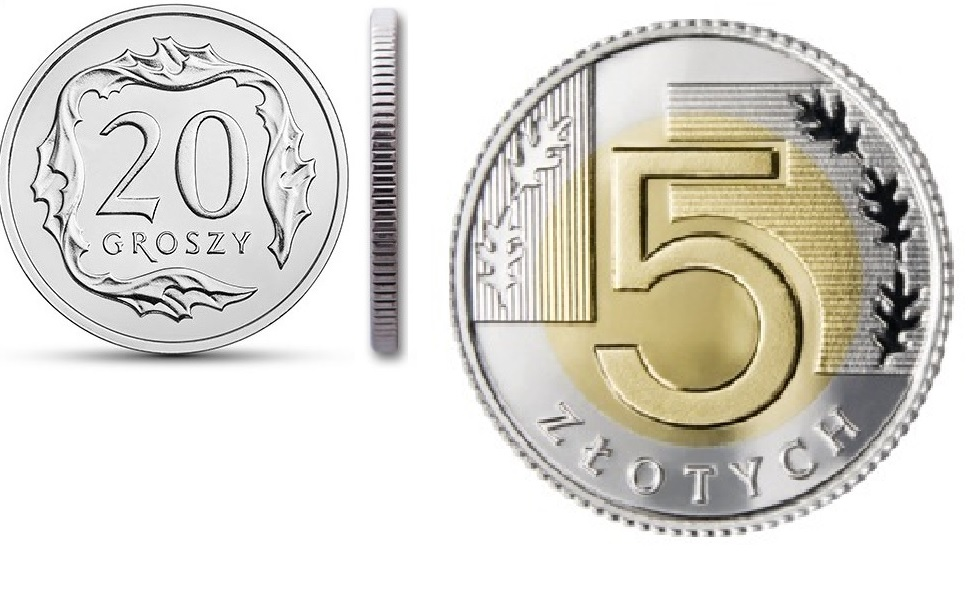 20 грошей и 5 злотых 1996 год набор из 2 монет