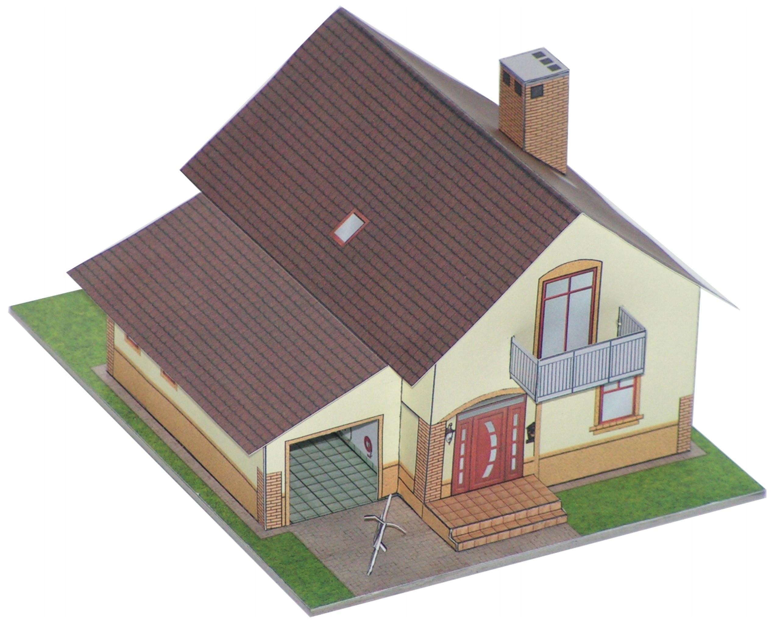 Модель на makietę_Dom с garażem_ExtraModel 1 :120 TT