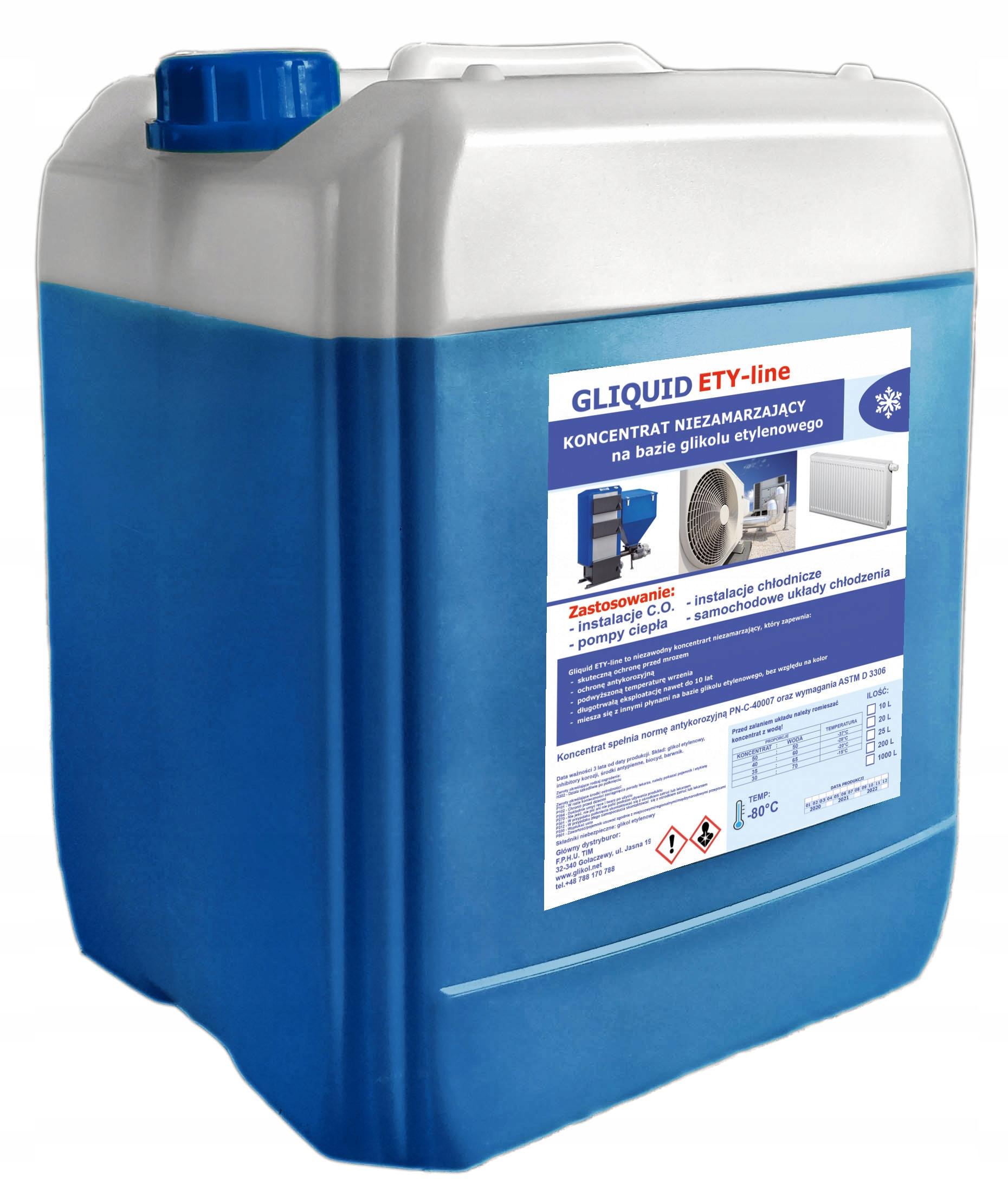 Koncentrat glikol etylenowy Gliquid -80°C 20L
