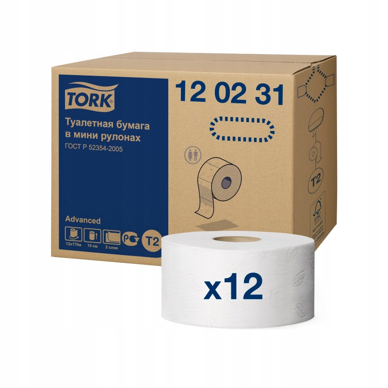 120231 krútiaci moment toaletný Papier mini jumbo kartón T2