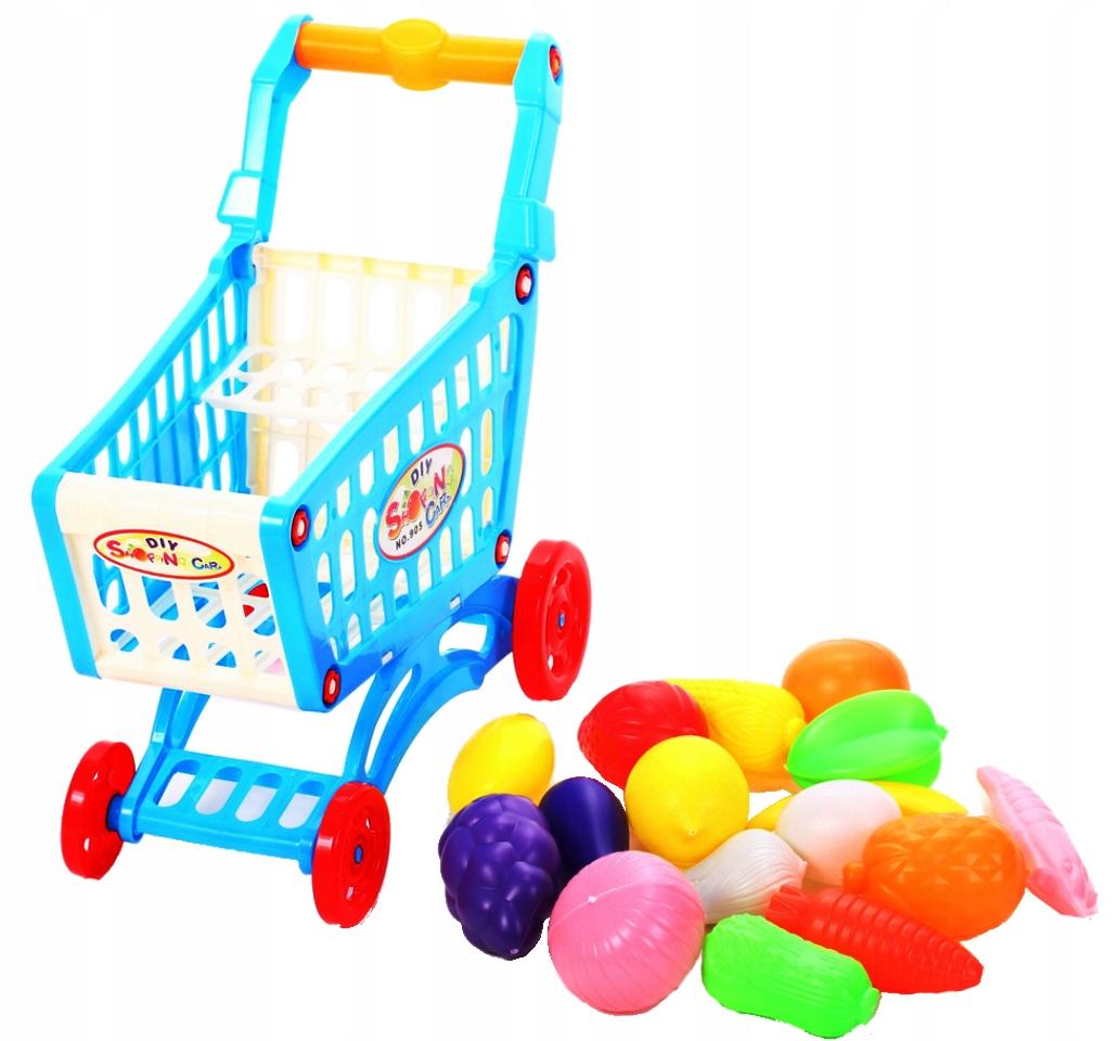 WÓZEK SKLEPOWY NA ZAKUPY KOSZYK Supermarket Waga (z opakowaniem) 0.45 kg