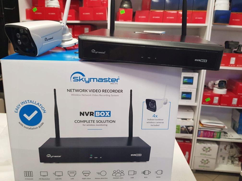 Zestaw monitoringu 4 kamery WIFI Nagrywarka p2p Klasa szczelności kamery IP66