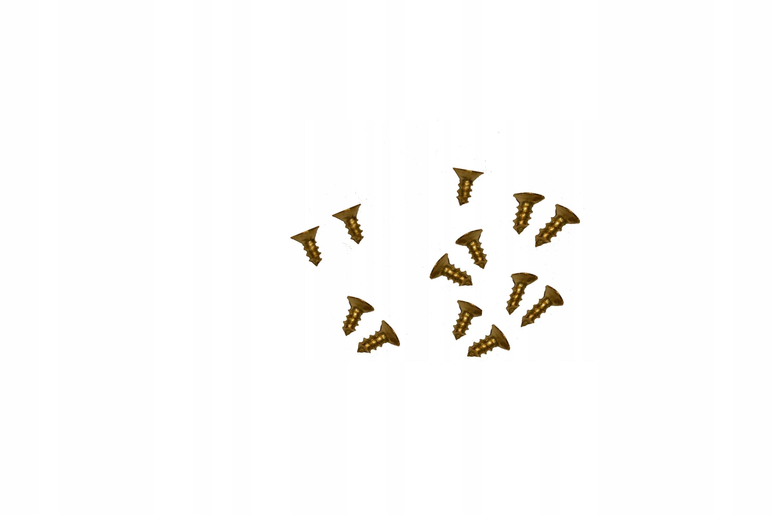Wkręty małe wkręt 6mm 0,6cm złote złoto
