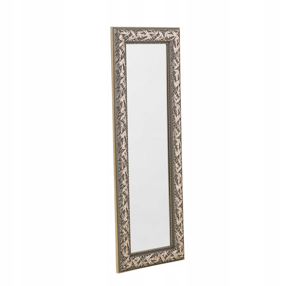 Zrkadlo na stenu zlato retro 51 x 141 cm BIELE