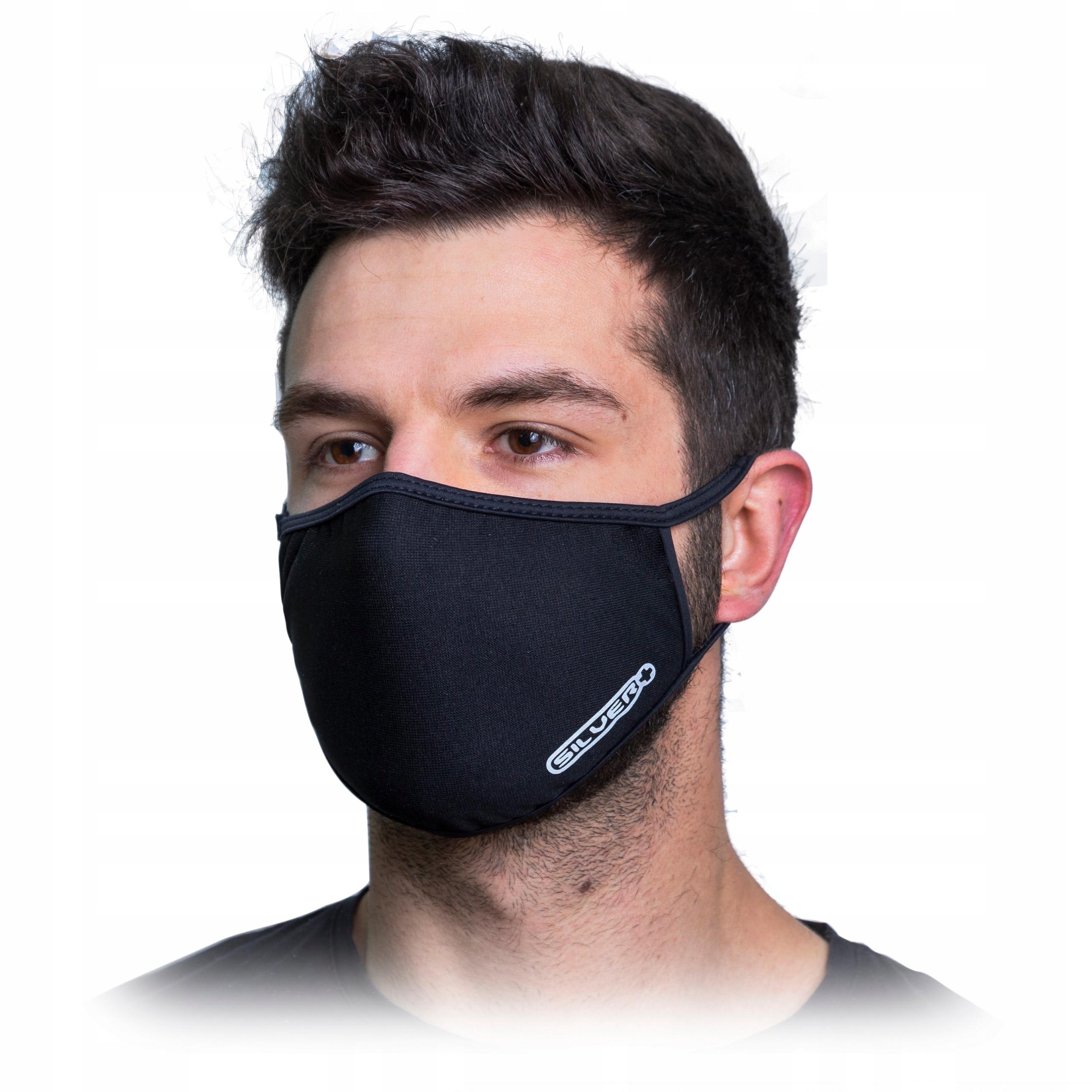 Maseczka maska ochronna na twarz z NANOSREBREM Ag+