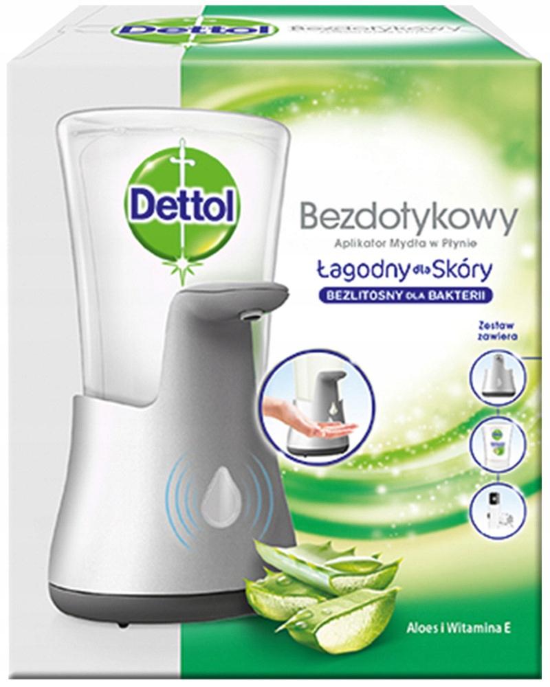 Dettol Бесконтактный Аппликатор + мыло Алоэ вера 250мл.