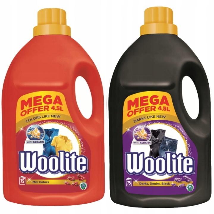 Woolite Стиральная жидкий цвет черный 9л (150 моет)
