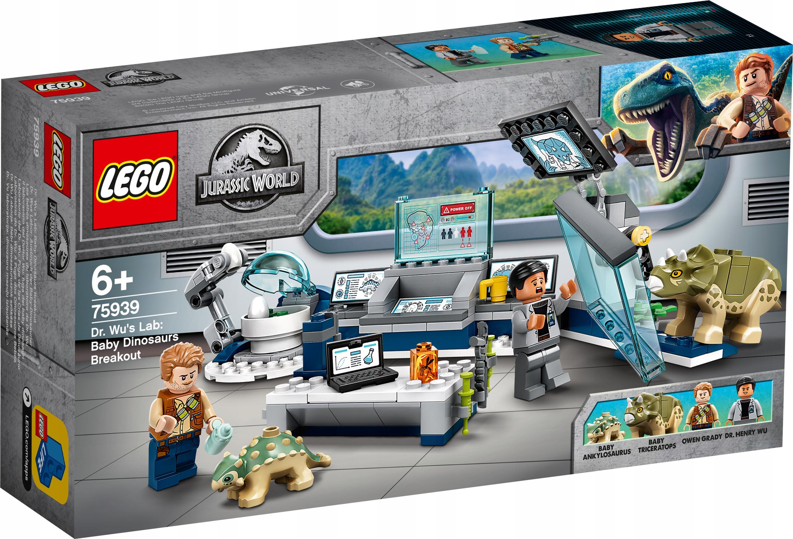 LEGO JURASSIC WORLD Laboratorium doktora Wu 75939
