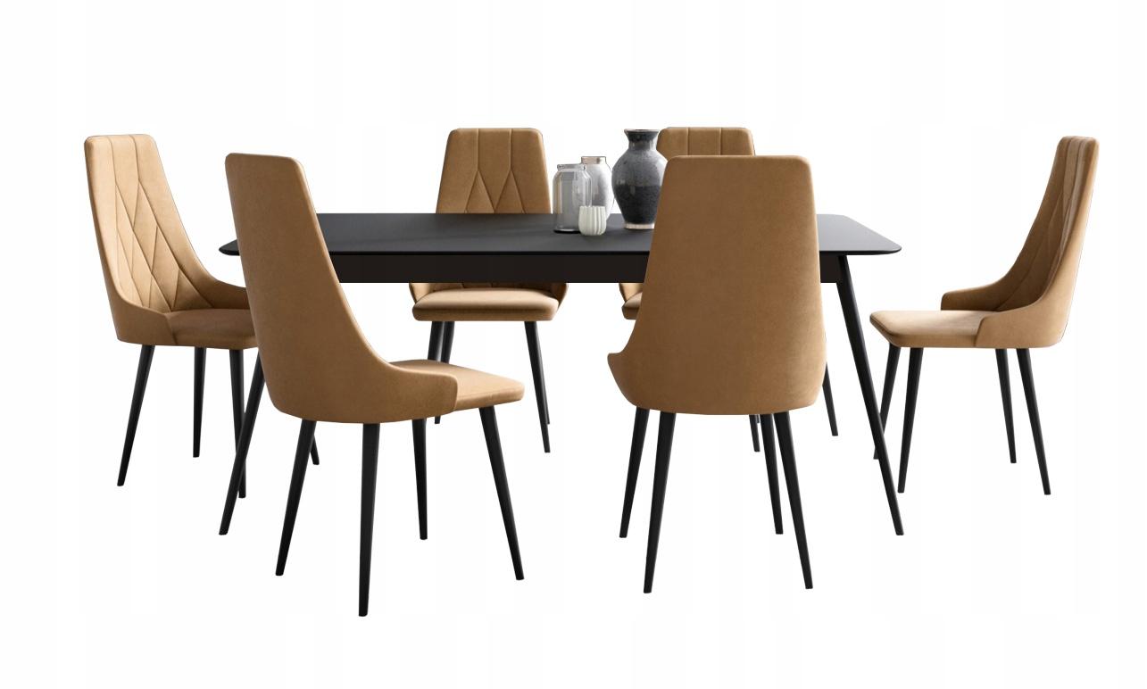 Современный столовый набор LUMI LOFT с 6 стульями