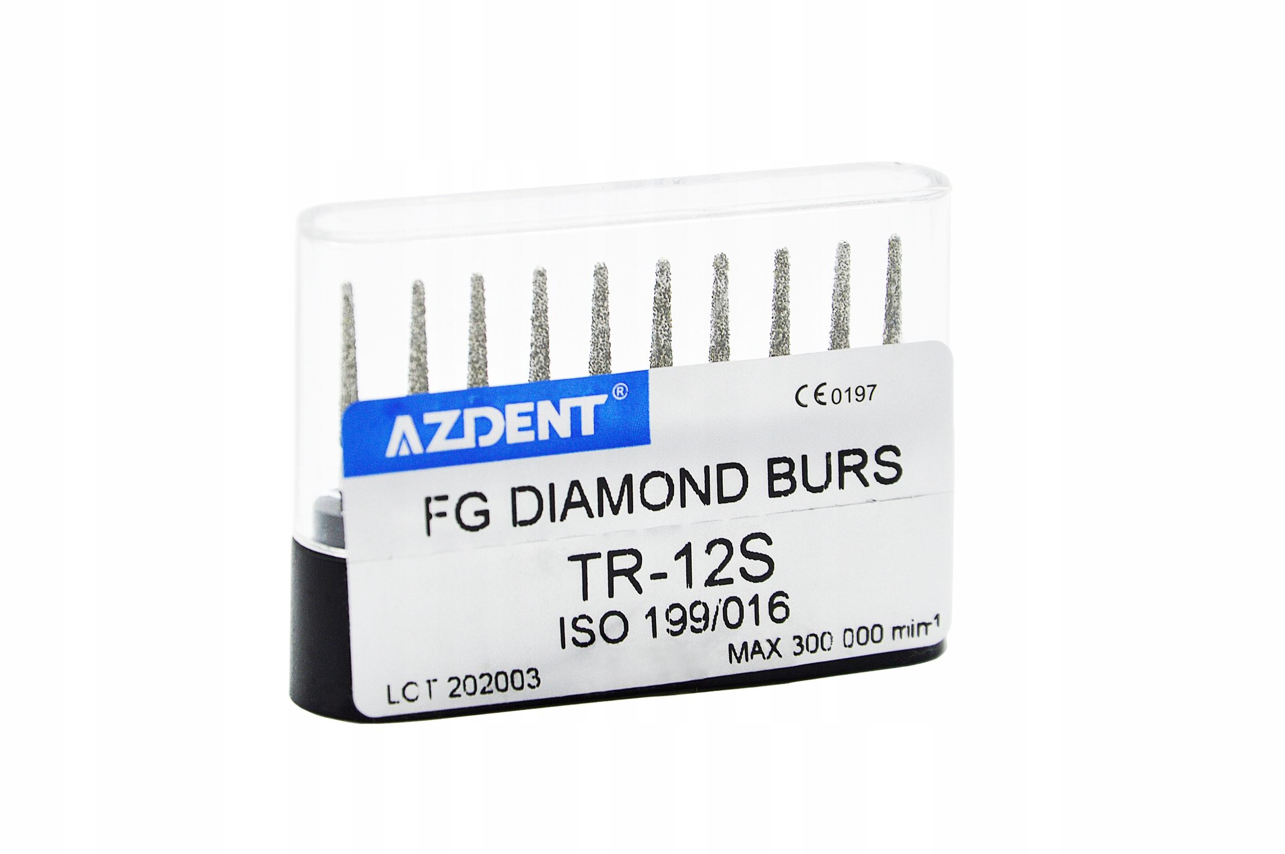 Алмазные сверла AZDENT TR 12S РЕЗЮЩИЕ В 3 раза лучше