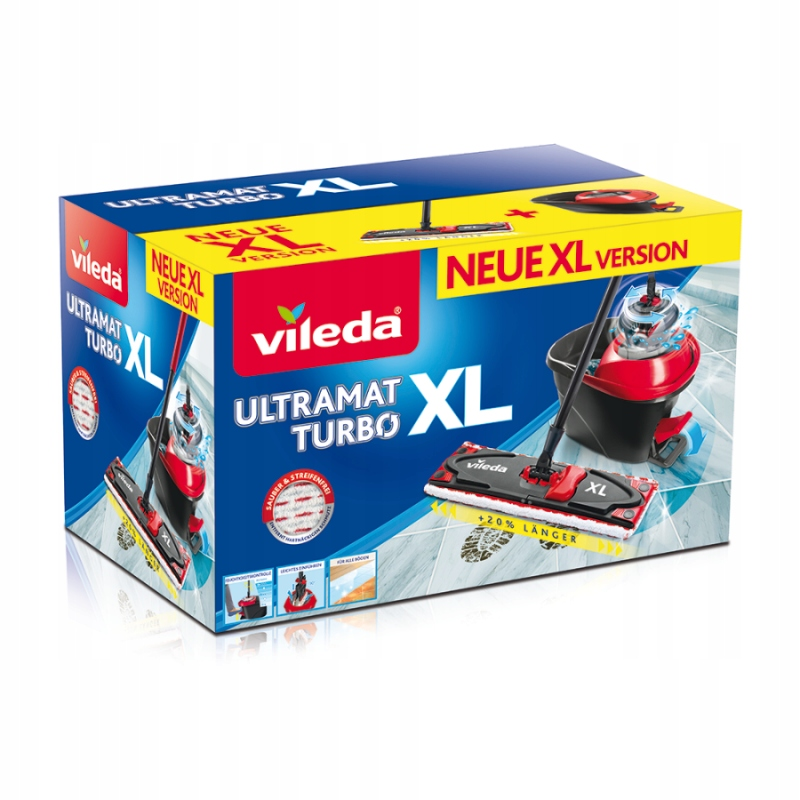 ZESTAW Vileda Ultramat XL Turbo Mop + Wiadro obrot