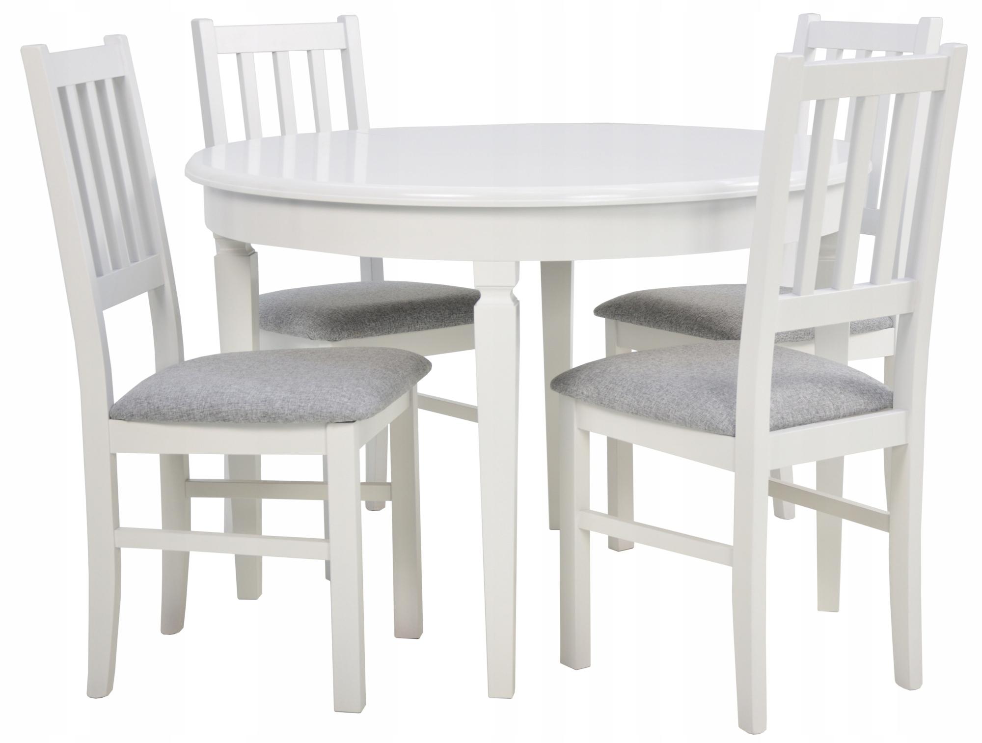 4 stoličky pre kuchyňa +stôl okrúhly SKLADACÍ 210 cm