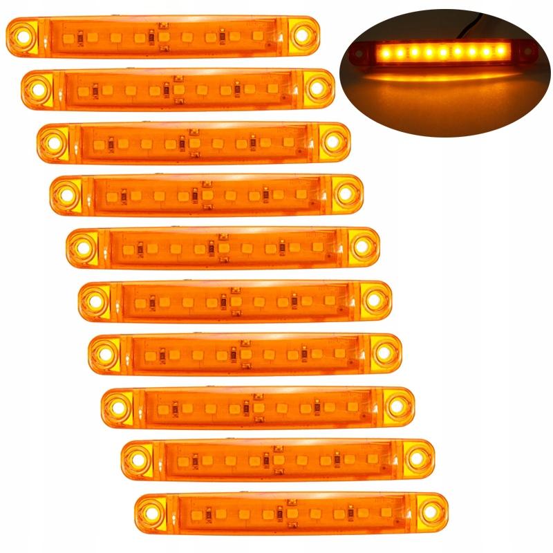 10szt лампы лампы фонарь, боковой obrysówki 9led 12v24v