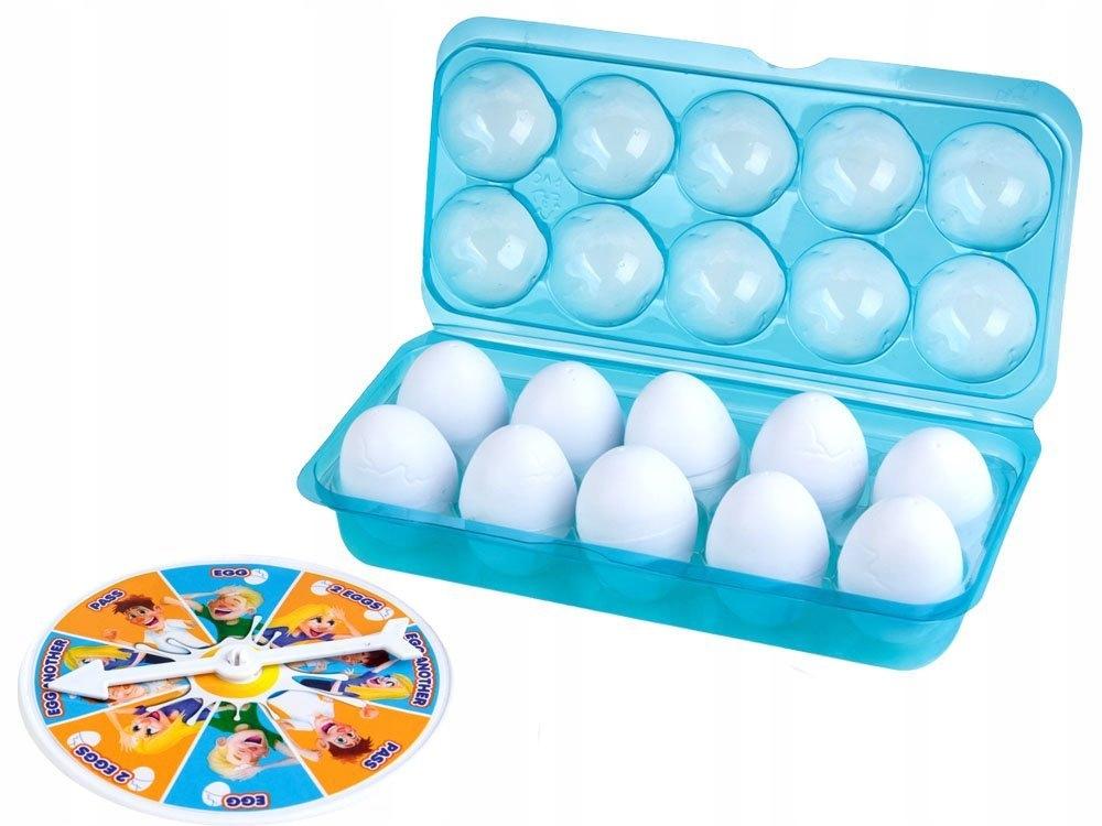 Wesoła gra rodzinna ROZBIJ JAJKO NA GŁOWIE GR0282 Materiał Plastik