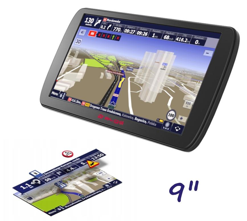 """Nawigacja GPS ALGA A9 + AutoMapa licencja 9"""" Waga produktu z opakowaniem jednostkowym 0.5 kg"""