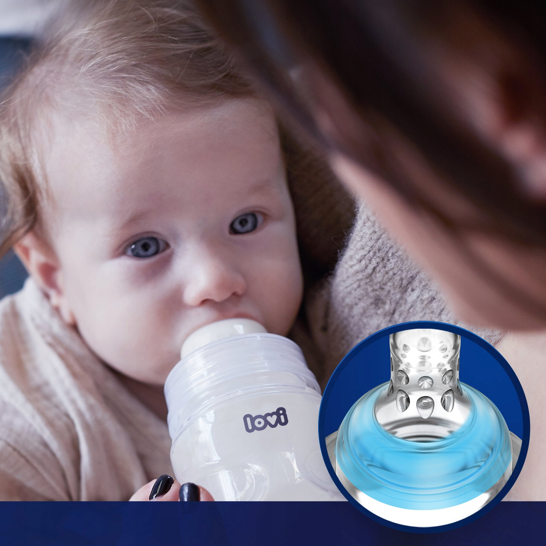LOVI Butelka dla niemowląt Stardust 120ml mini 0m+ Waga produktu z opakowaniem jednostkowym 0.09 kg