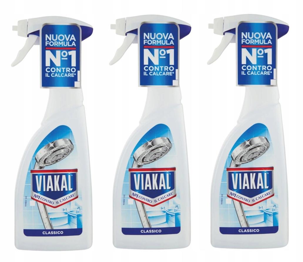 Набор Viakal Blu descaler-спрей 3 x 500 мл