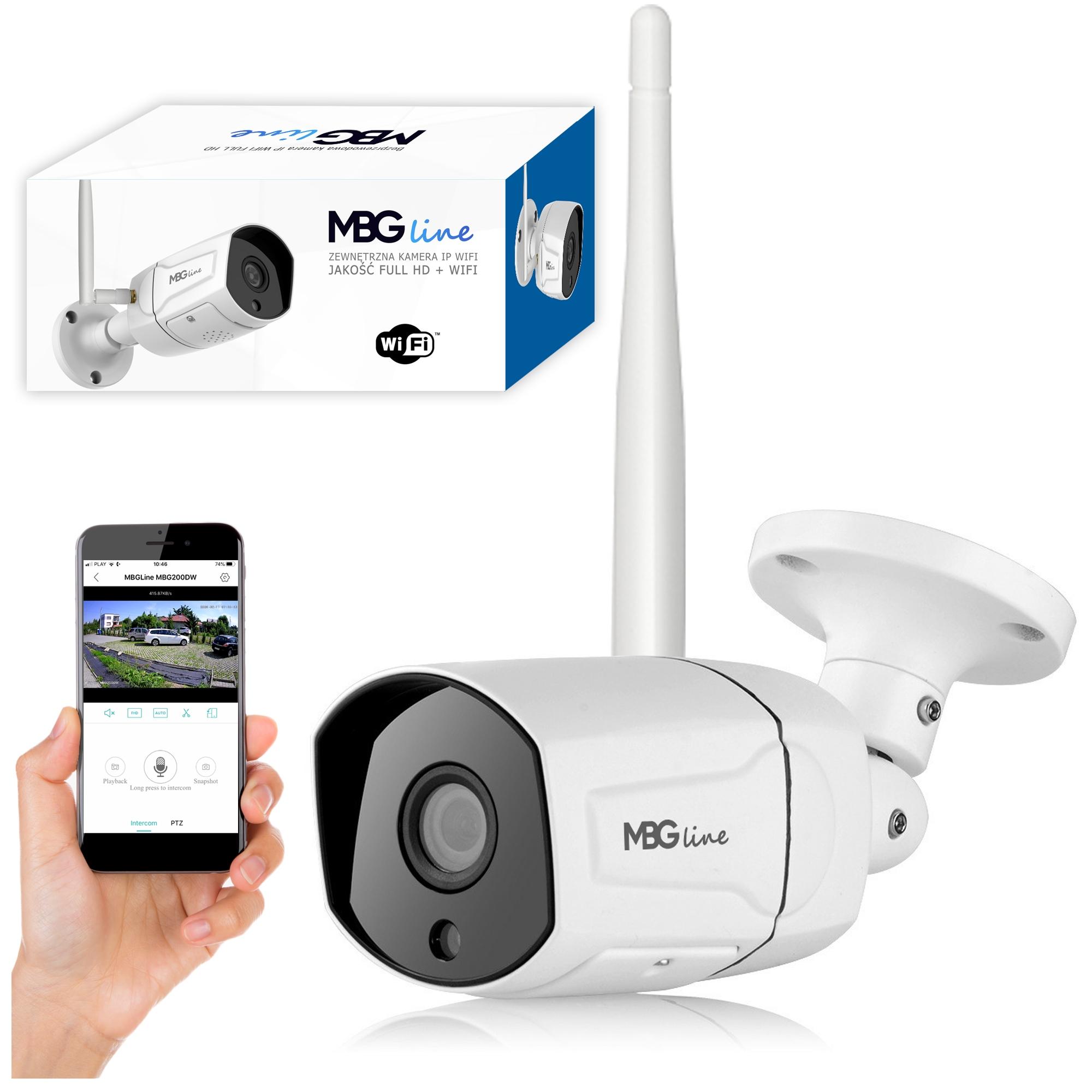 Zewnętrzna kamera IP H265 P2P Full HD METAL WIFI