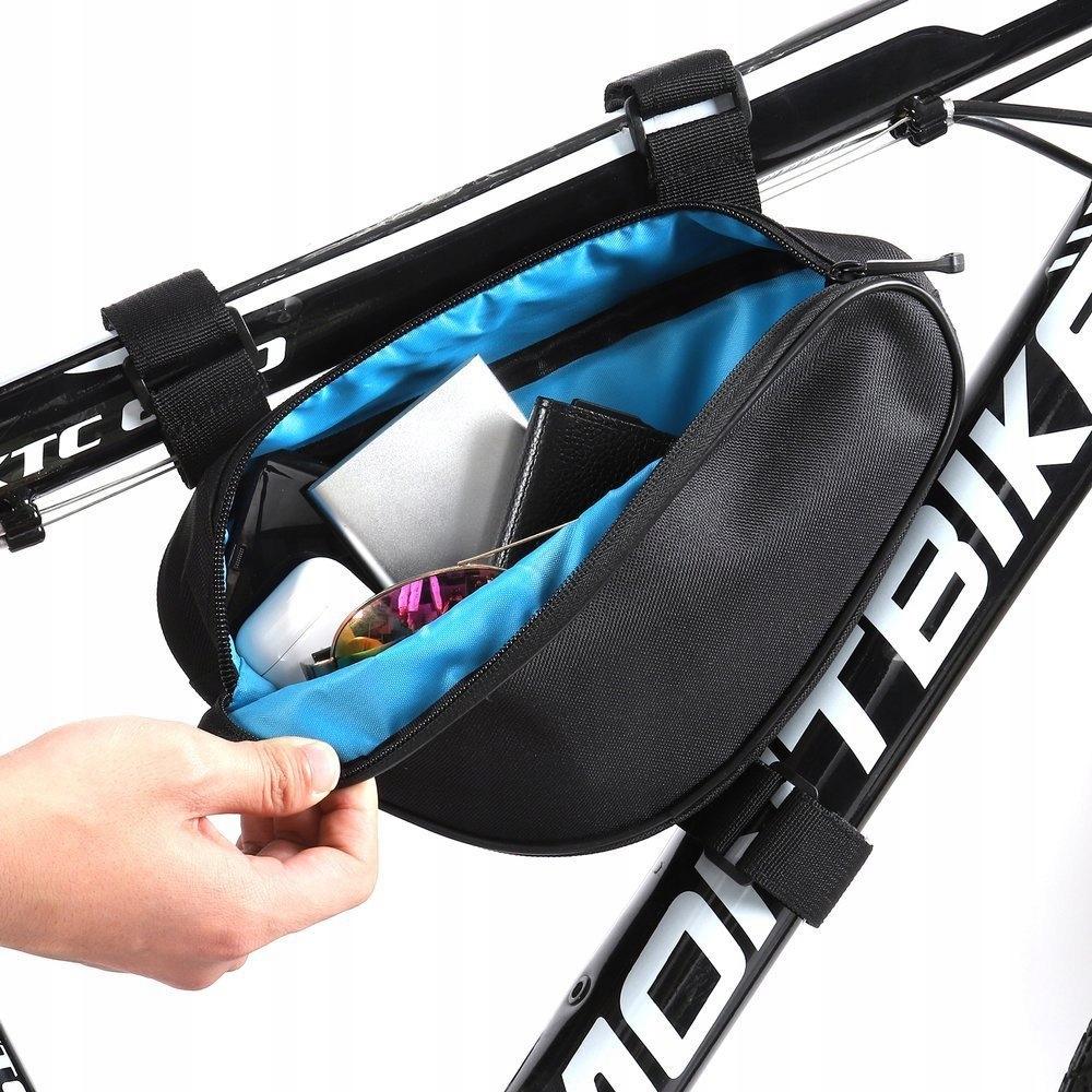 Torba rowerowa na ramę roweru 1,5 L miękka Waga 121 g