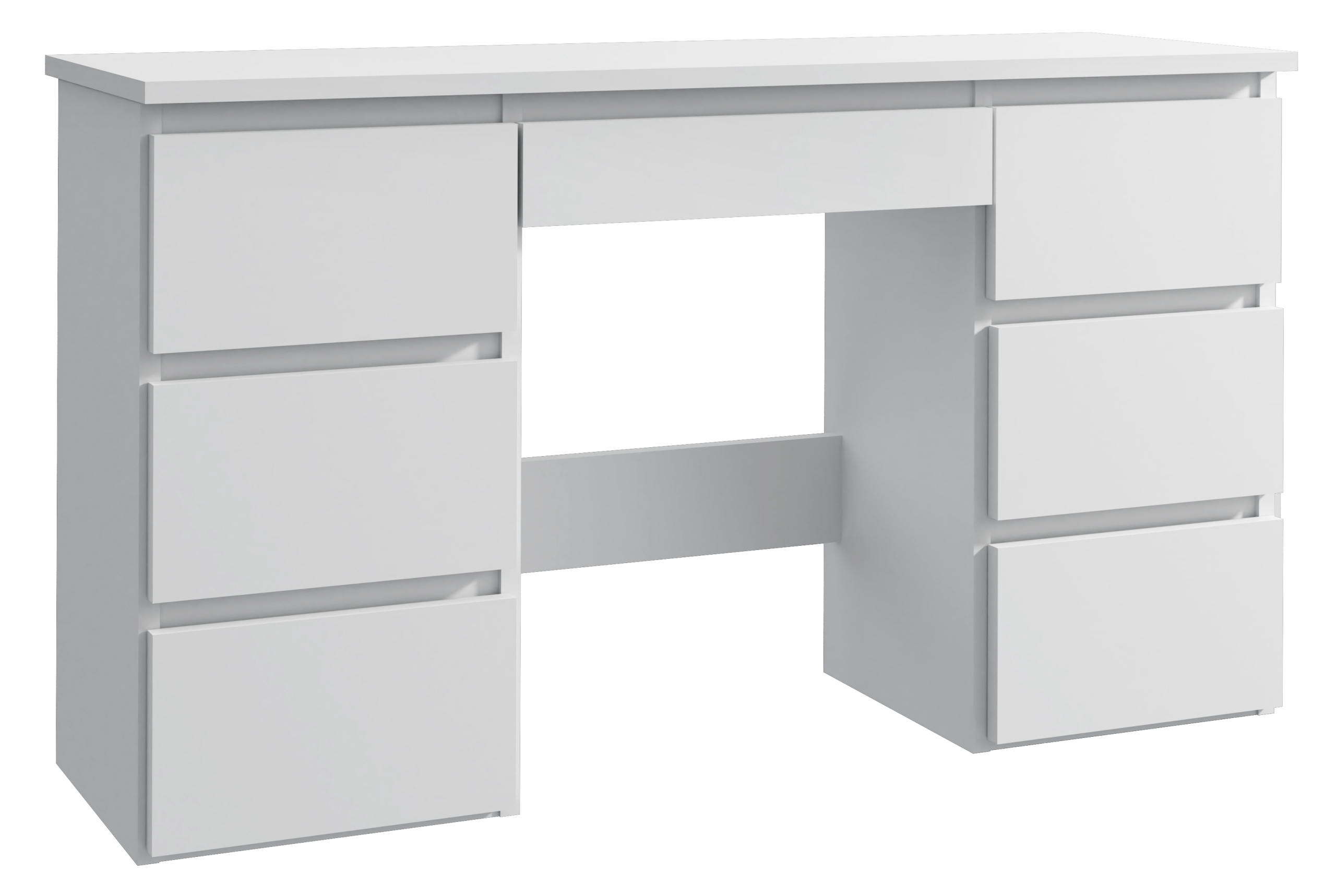 Biurko białe komputerowe duże z szufladami Beta 4