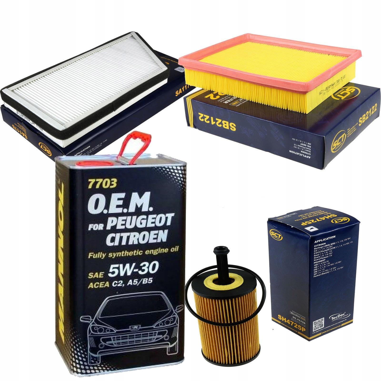 комплект фильтры peugeot 206 1 1 14 от 2000 +olej