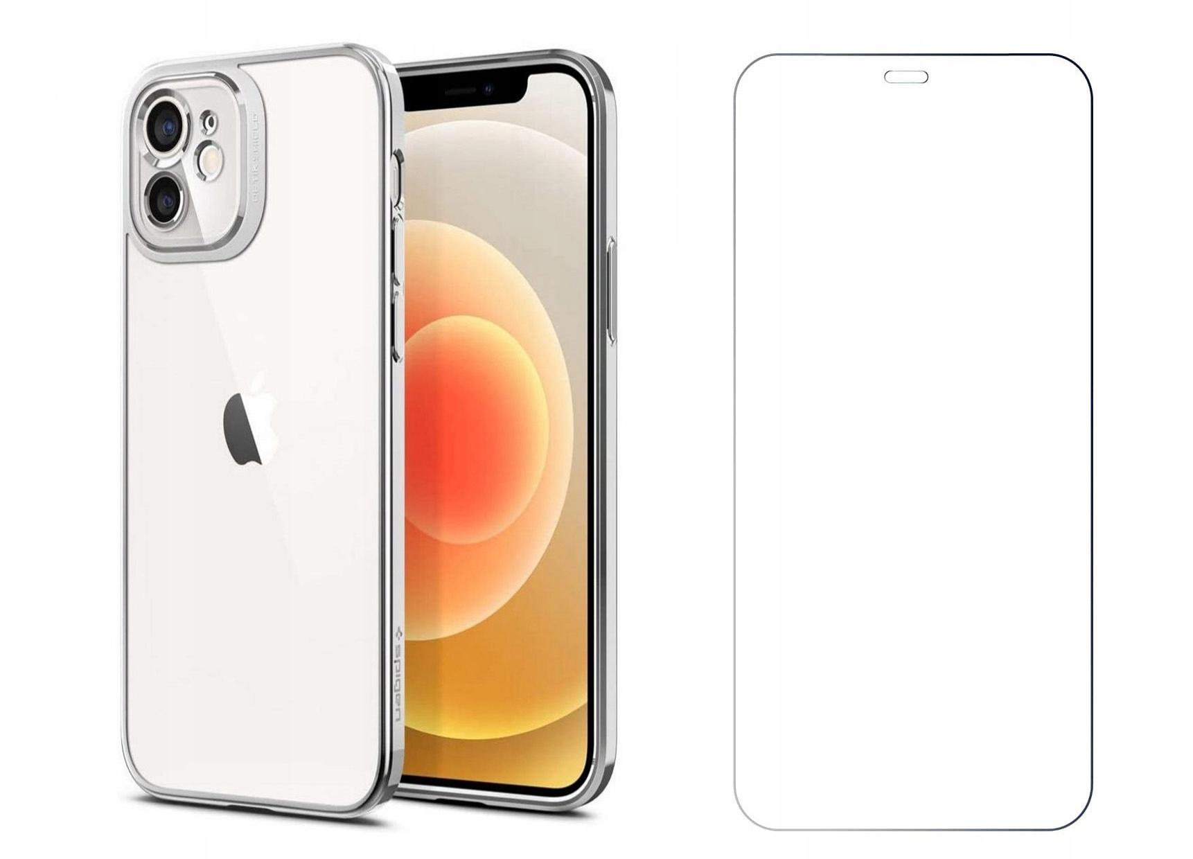 Etui Spigen Optik Crystal + Szkło do iPhone 12