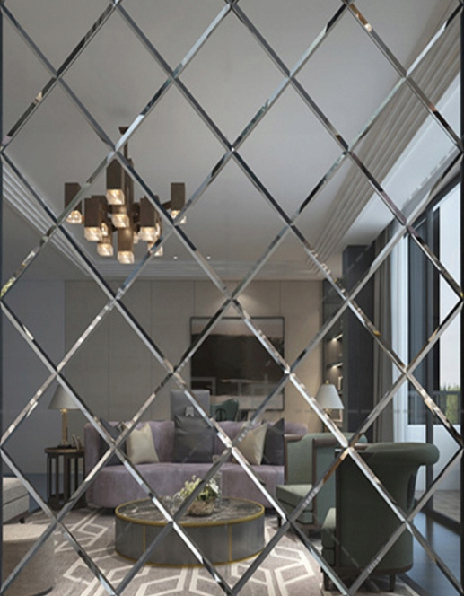 Зеркало со скошенной кромкой 85x170 Glamour Mirror Tiles