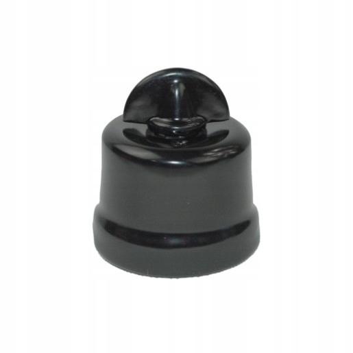 Prepínač keramické double BLACK retro