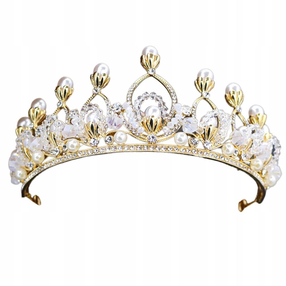 1ks Retro baroková koruna imitácia koráliku Rhinesto