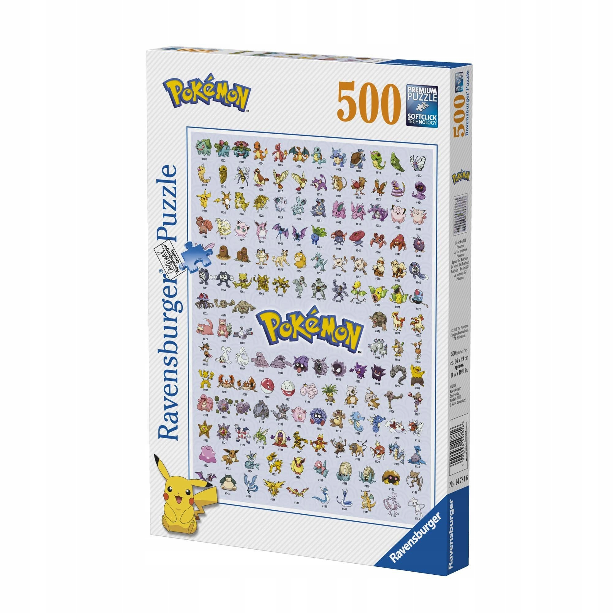 Puzzle Ravensburger Pokemon 500 ks.