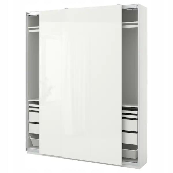 IKEA PAX / HASVIK skriňa biela 200x44x236 cm