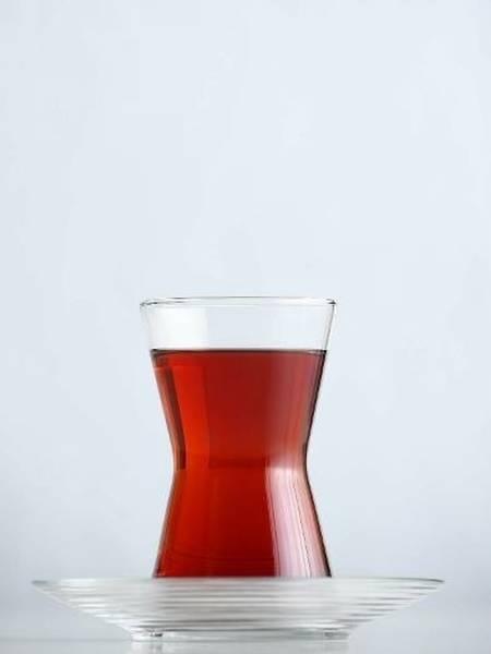 Турецкие стаканы для чая + блюдца LAV 6шт.