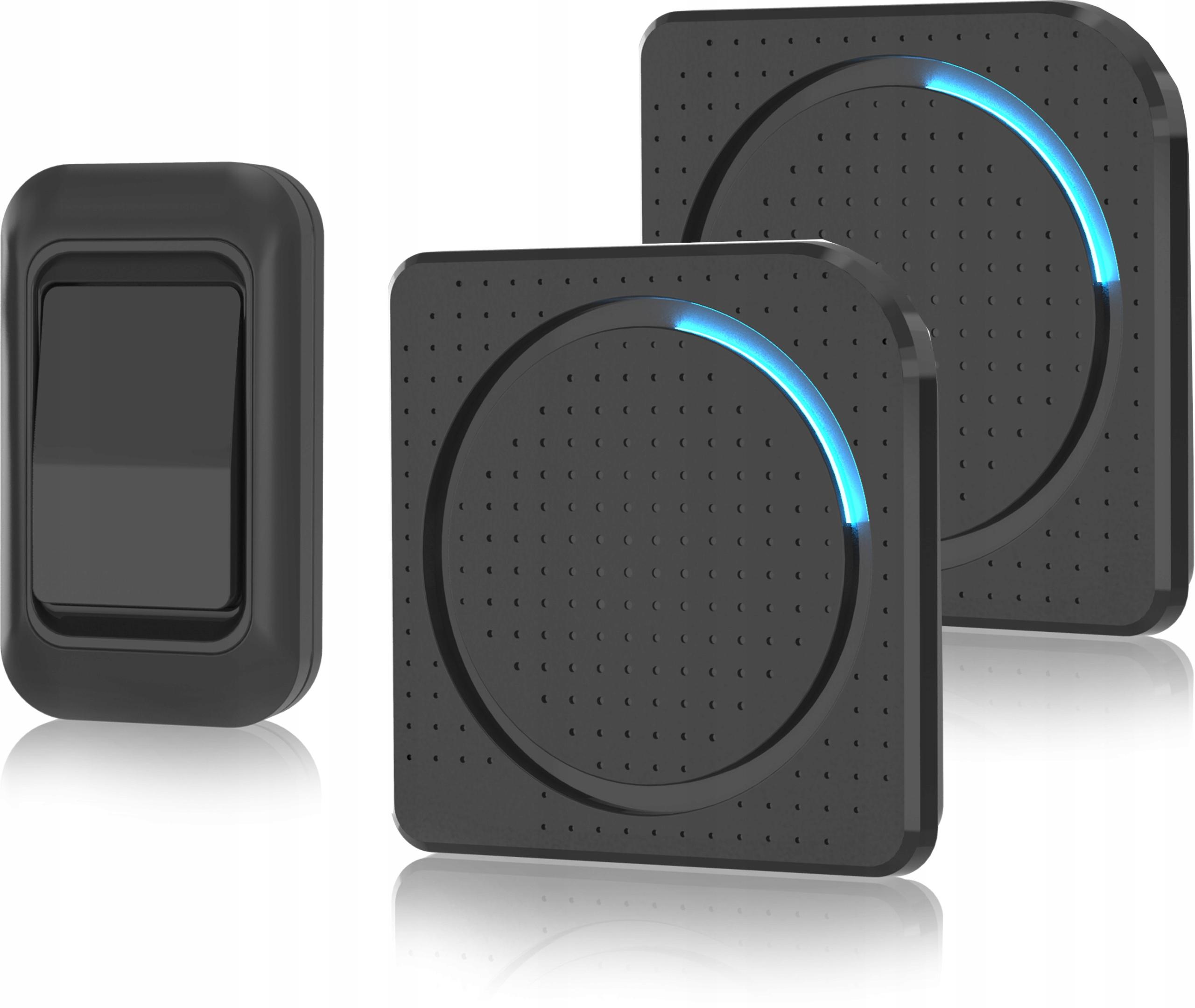 Беспроводной дверной звонок 1-кнопочный 2-приемник 230 В