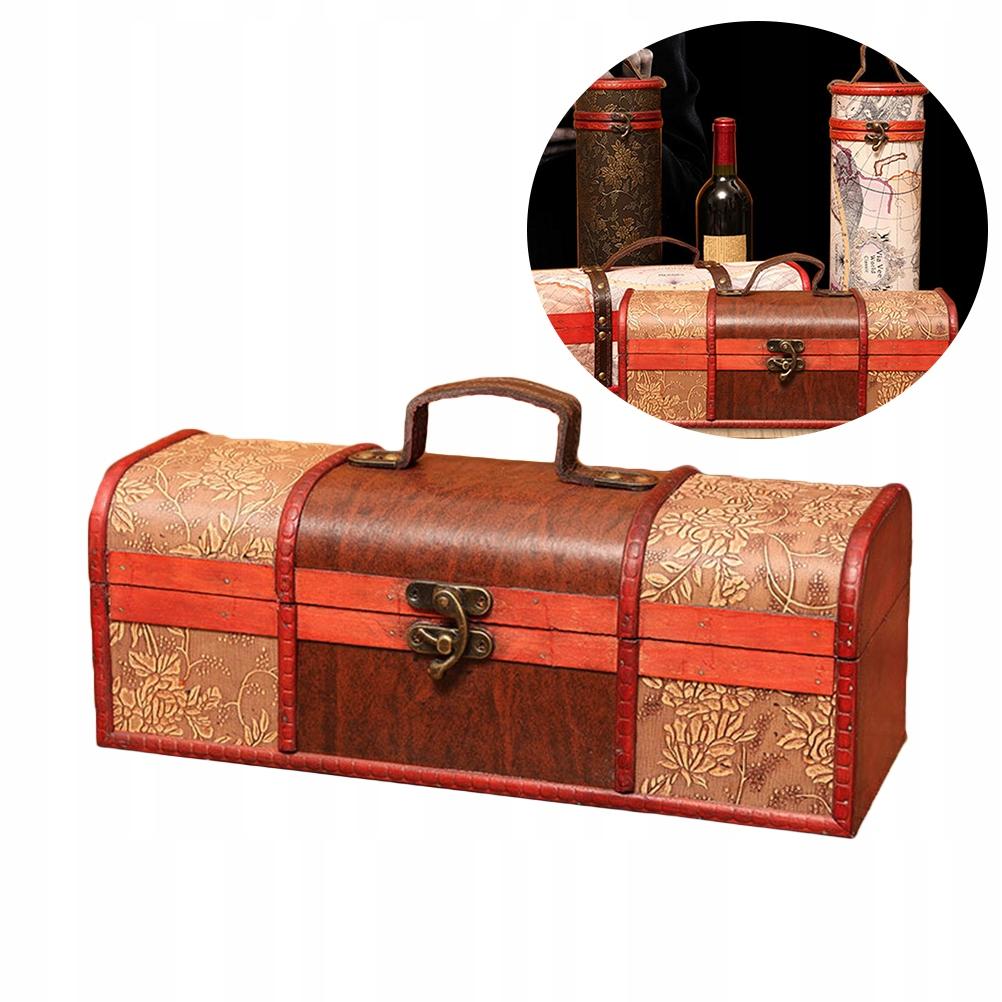 Drevená krabica na víno 1PC Retro na víno