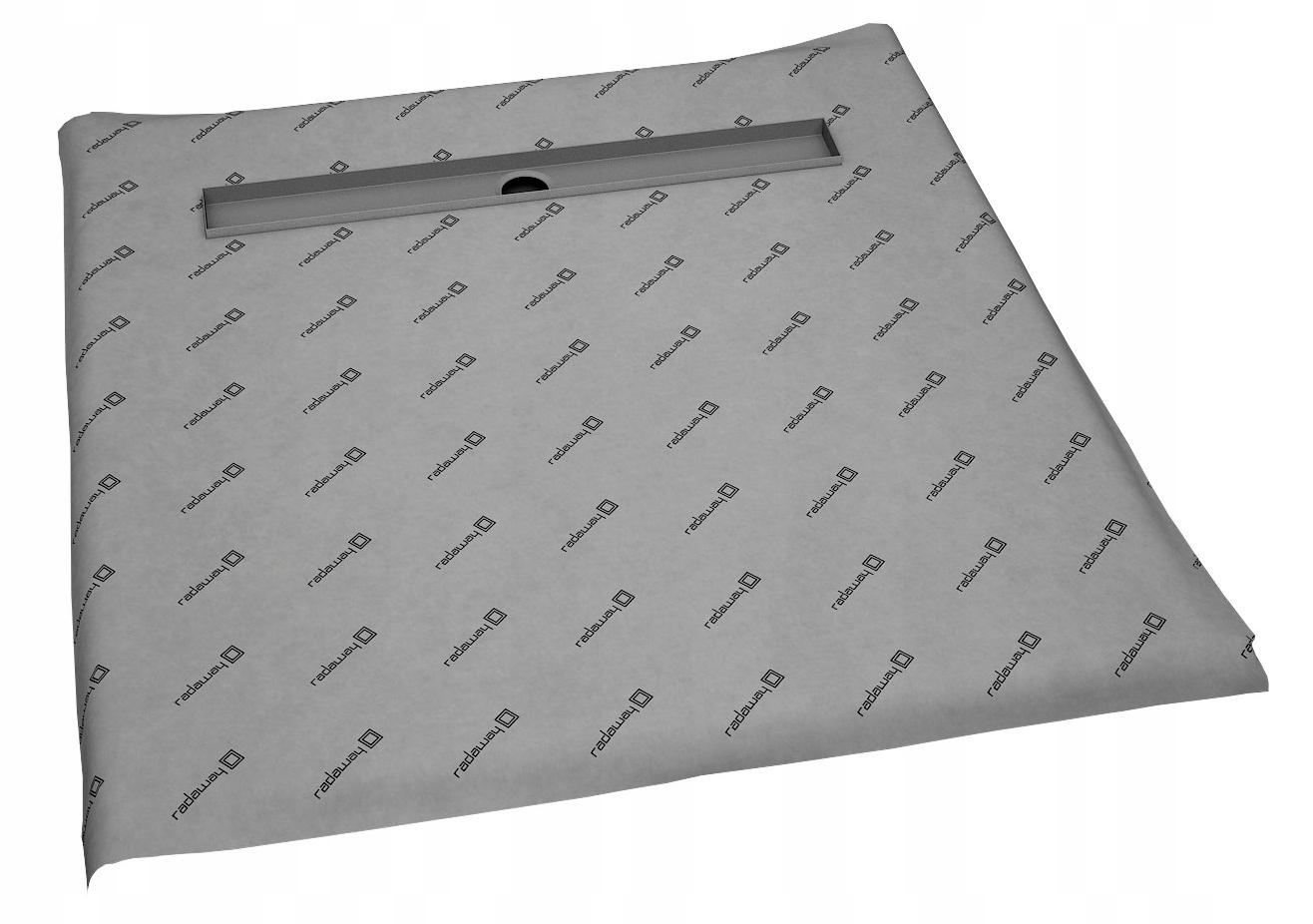 Kachľová sprchová vanička 120x120, vývod RADADRAIN 8-12