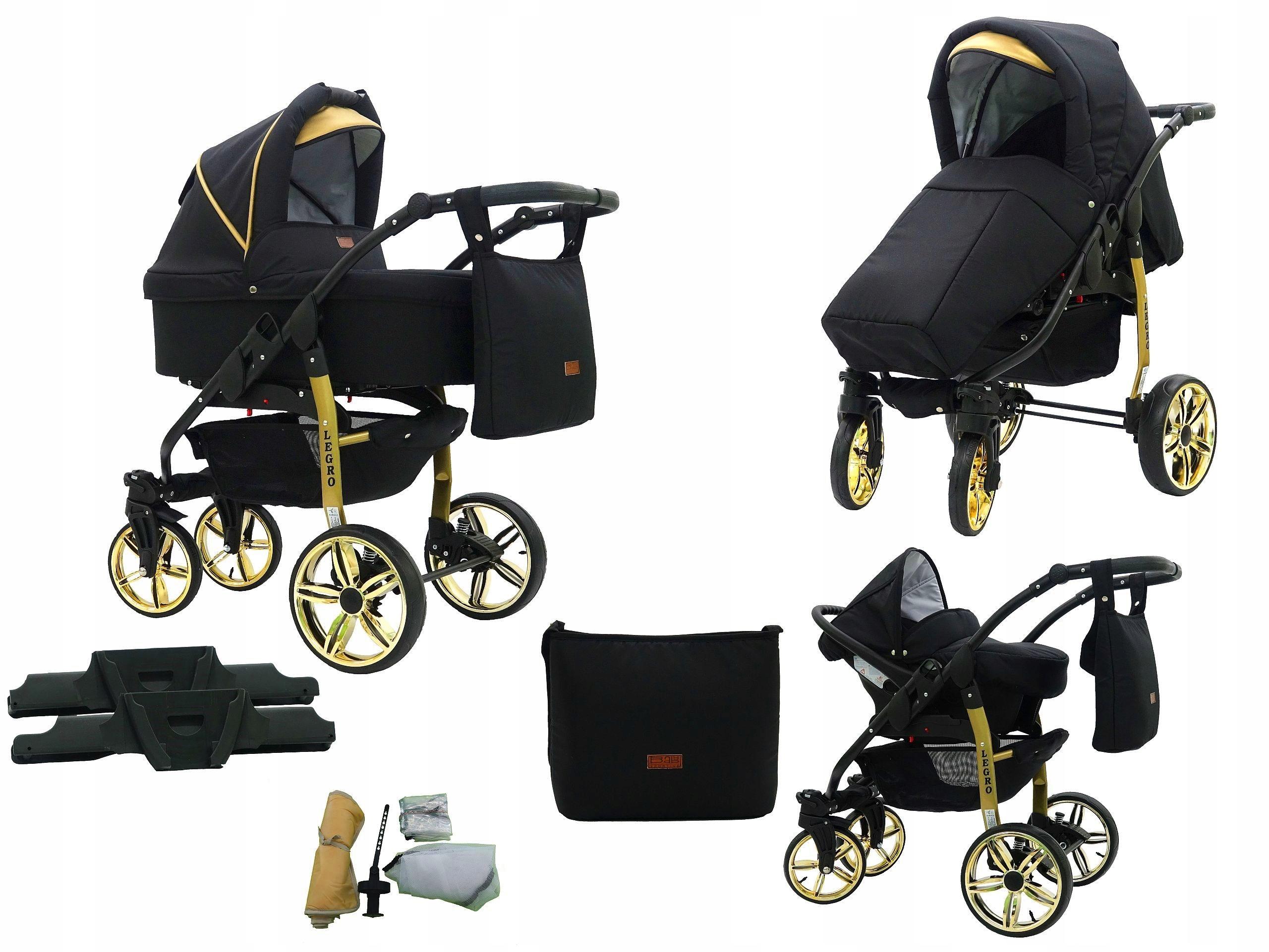Wózek dziecięcy LEGRO 3W1 GOLD KAREX
