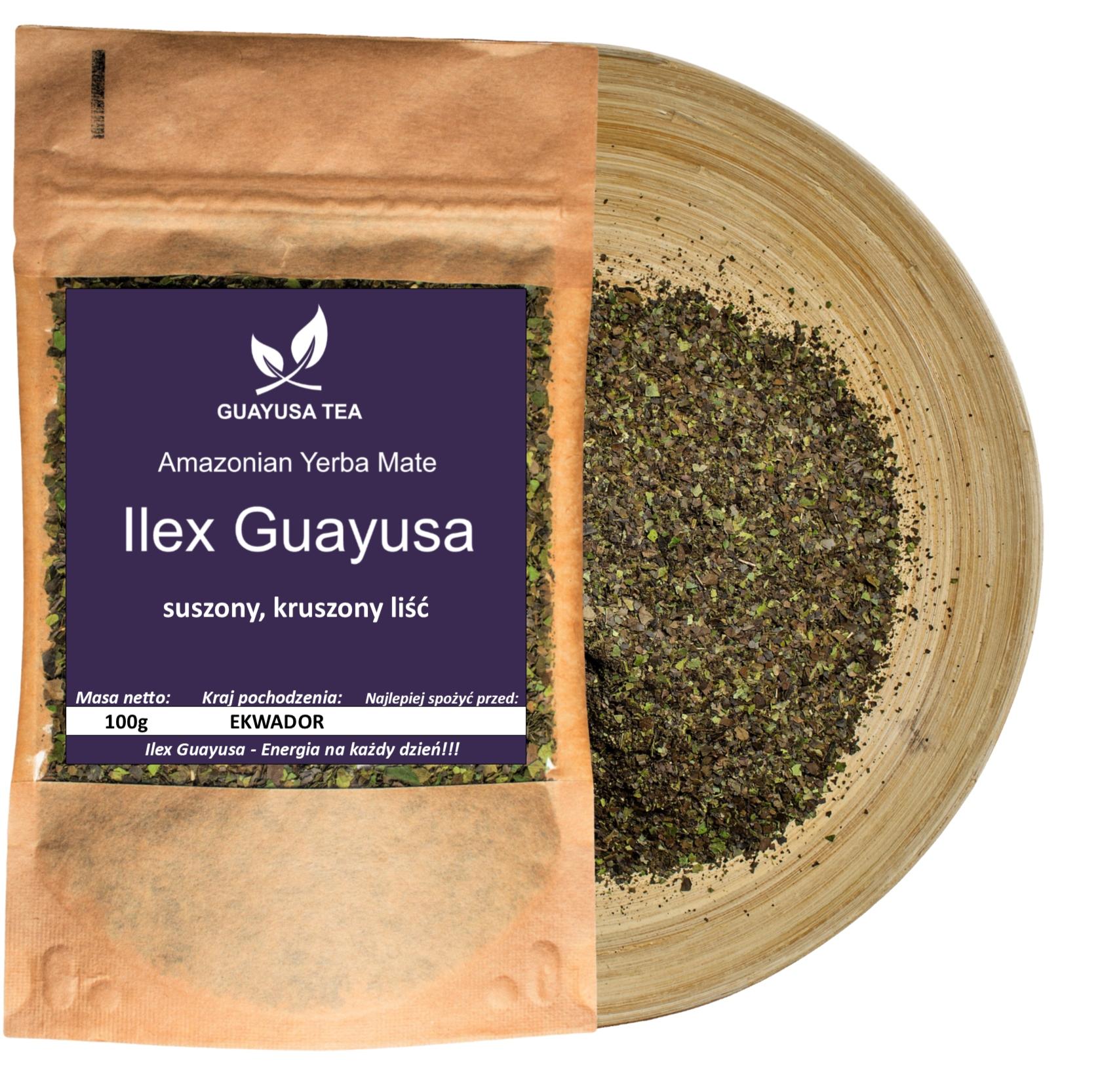 Ilex Guayusa 100g, Energia, Relax, Pobudzenie