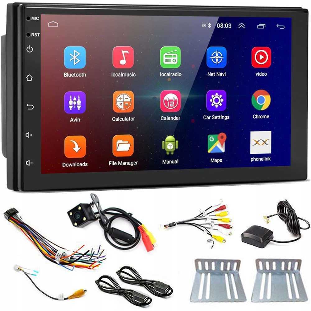 АВТОРАДИОСИСТЕМА ANDROID 2DIN LCD TOUCH + КАМЕРА