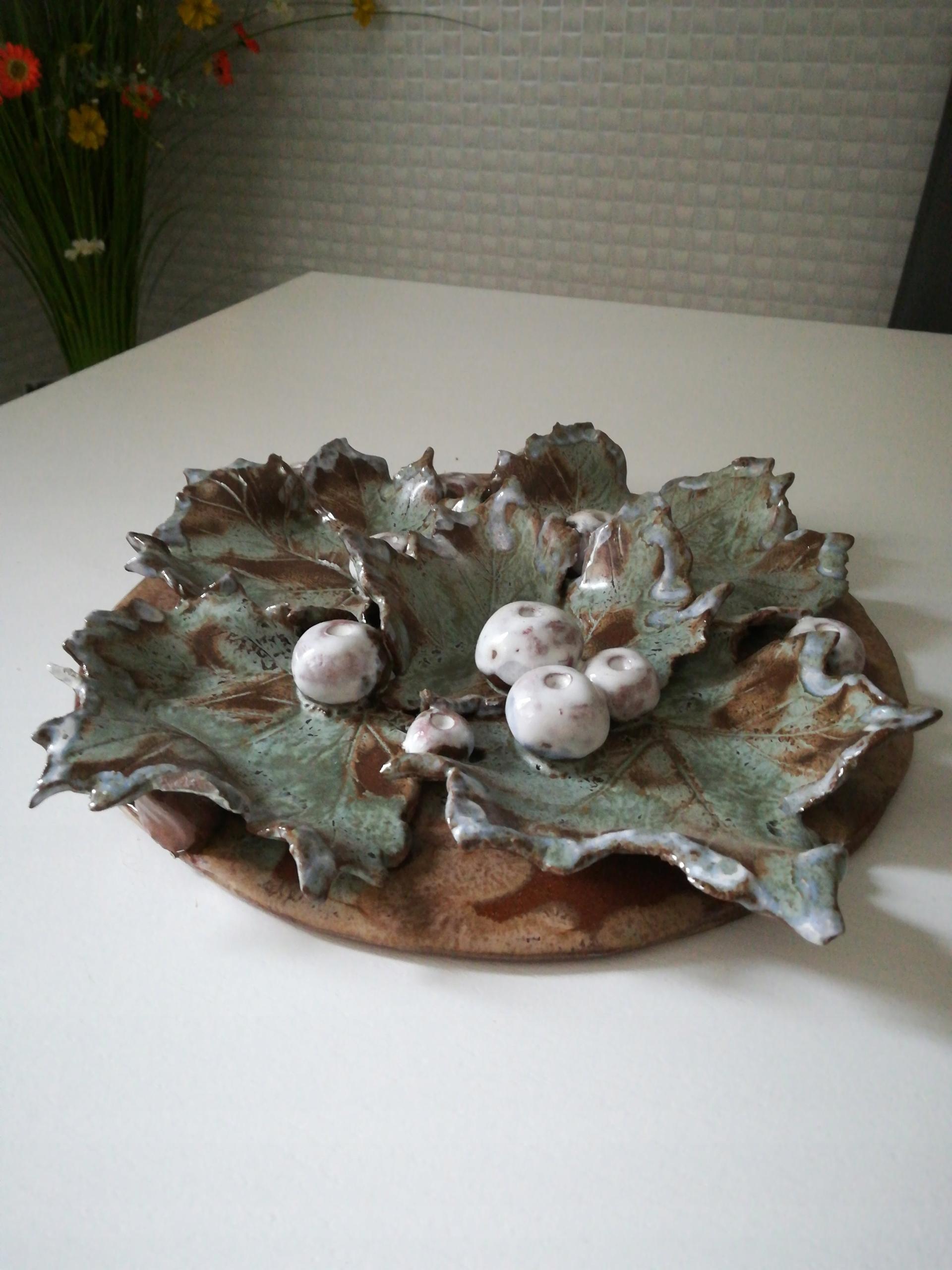 Ceramiczna dekoracja liście