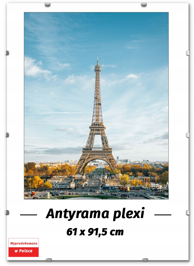 ANTYRAMA PLEXI 61x91,5 91,5x61 cm RAMKA NA PLAKAT