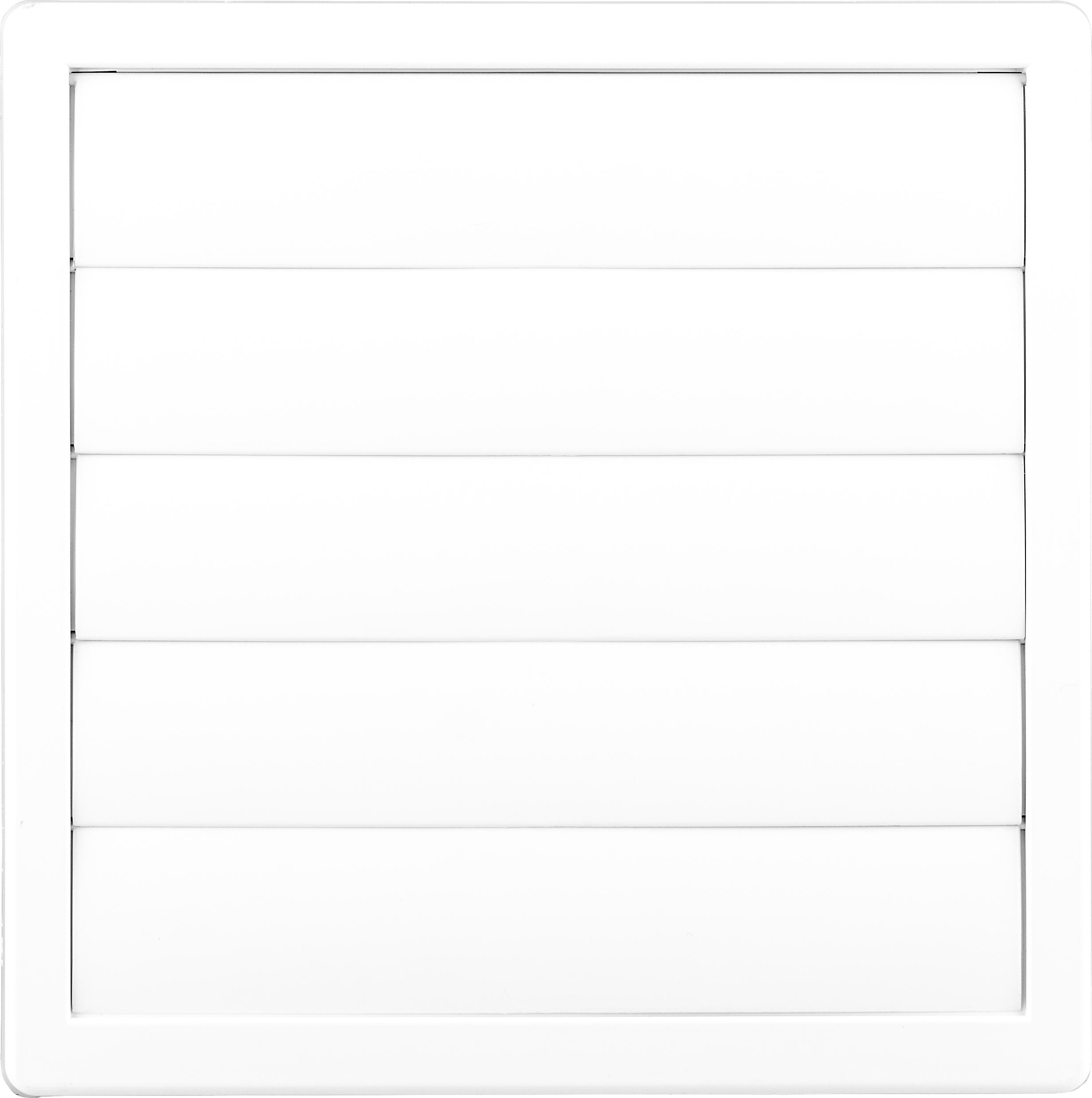 Kratka wentylacyjna 17x17 FI 100 z żaluzją biała