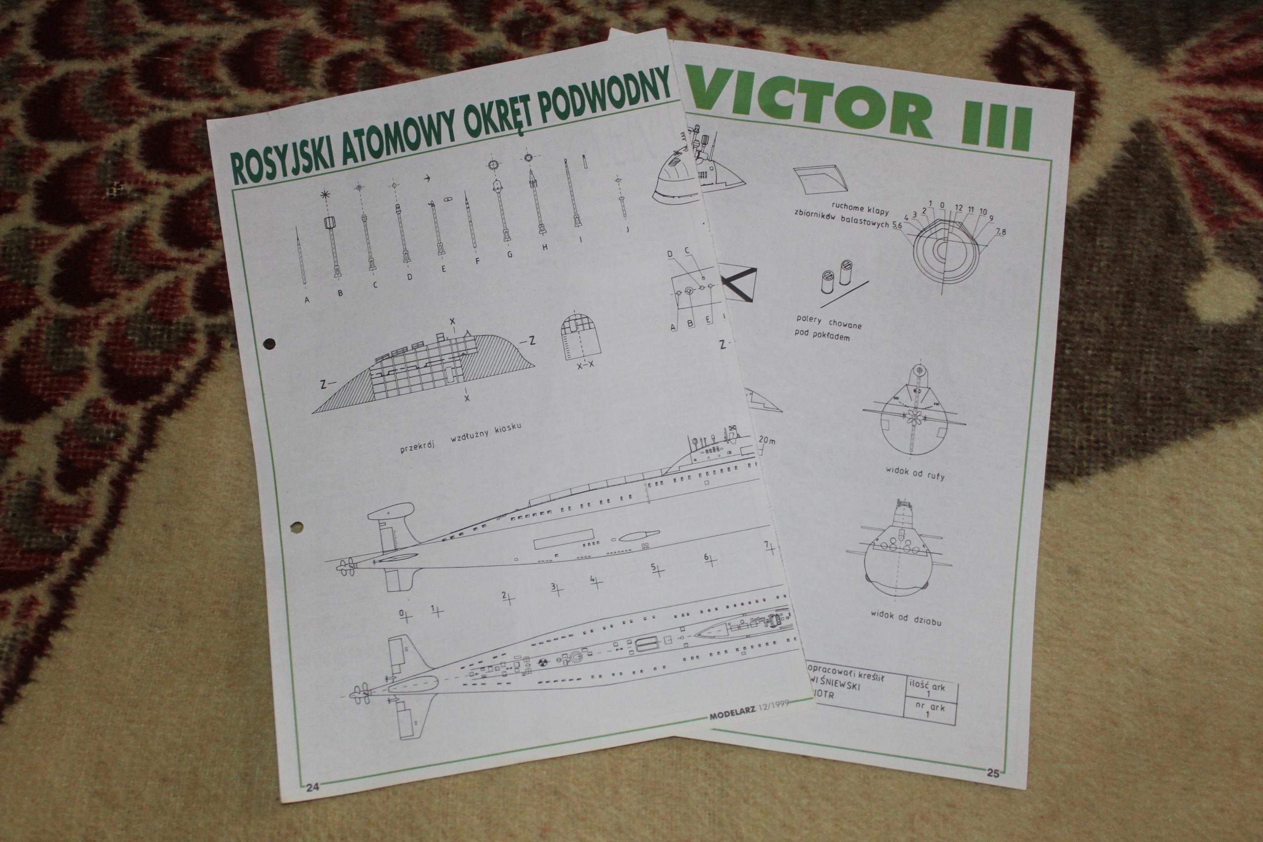 Victor III Plany modelarskie Stan BDB
