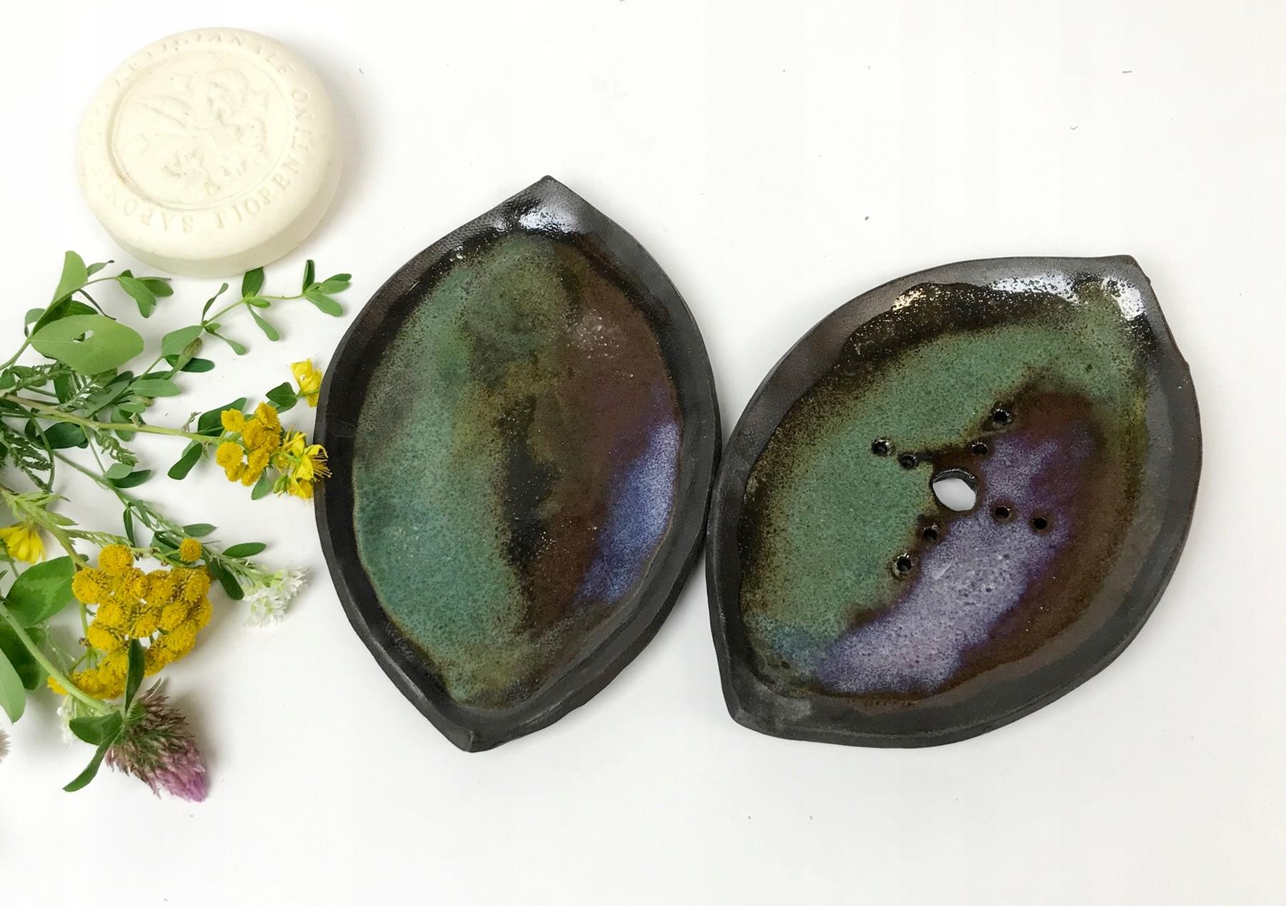 Ručne vyrobená keramická miska na mydlo