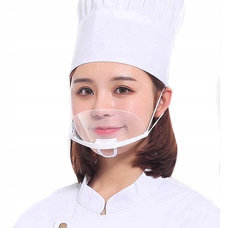 maseczka maska przezroczysta dla szef kuchni 5 szt