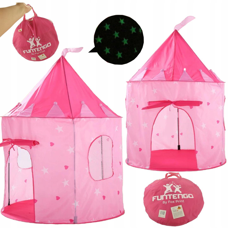 Świecący namiot domek zamek z podłogą 135 cm 001R